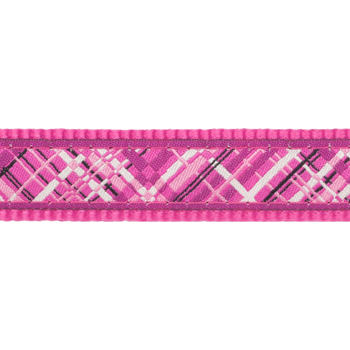 Multi Dog Lead 25 mm x 2 m - Flanno Hot Pink