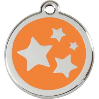 Pet ID Tag Large 37 mm - Star Orange