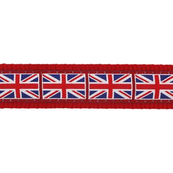 Martingale Dog Collar 25 mm - Union Jack Flag