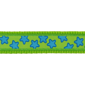 Dog Harness 25 mm x 56-80 cm - Stars Turquoise