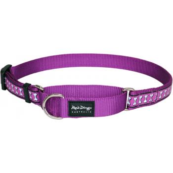 Martingale Collar 15 mm – Reflective Bones Purple