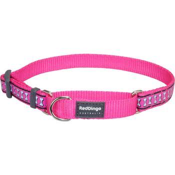 Martingale Collar 15 mm – Refl. Bones Hot Pink