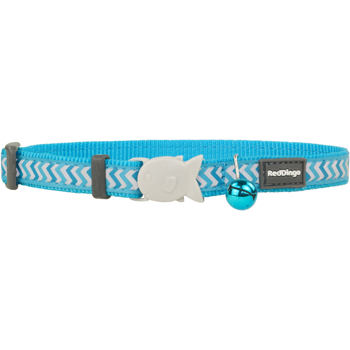 Cat Collar 12 mm x 20-32 cm – Refl.Ziggy Turquoise