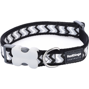 Dog Collar 15 mm x 24-37 cm – Refl. Ziggy Black