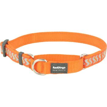 Martingale Dog Collar 25 mm – Refl. Ziggy Orange