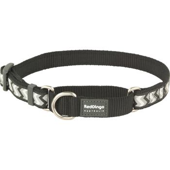 Martingale Collar 20 mm – Reflective Ziggy Black
