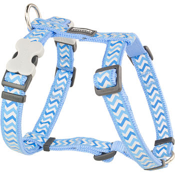 Dog Harness 25 mm x 56-80cm – Refl. Ziggy Med.Blue