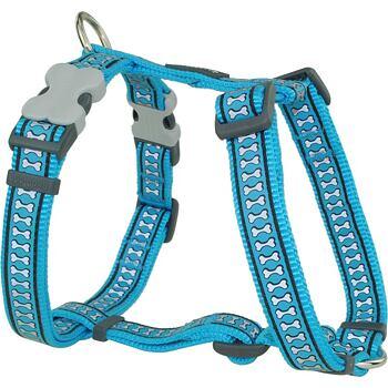 Dog Harness 20 mm x 45-66 cm– Refl.Bones Turquoise