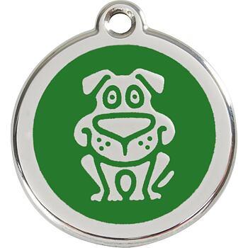 Pet ID Tag - Dog Green