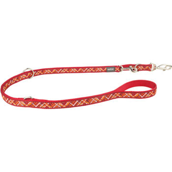 Multi Dog Lead 15 mm x 2 m - Flanno Red