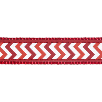 Dog Collar 25 mm x 41-63 cm – Refl. Ziggy Red
