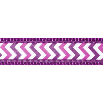 Dog Lead 12 mm x 1,8 m – Reflective Ziggy Purple