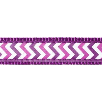 Dog Lead 20 mm x 1,8 m – Reflective Ziggy Purple