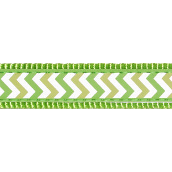 Martingale Collar 15 mm – Reflect. Ziggy Lime