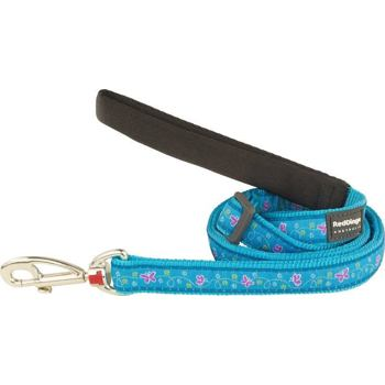 Dog Lead 20 mm x 1,8 m - Butterfly Turquoise