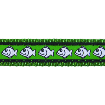 Cat Collar 12 mm x 20-32 cm– Reflective Fish Green
