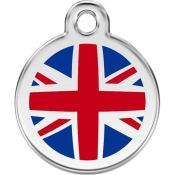 Pet ID Tag - UK Flag Navy