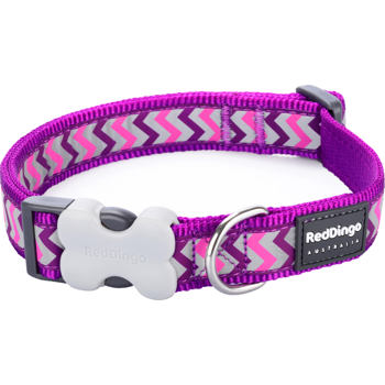 Dog Collar 25 mm x 41-63 cm – Refl. Ziggy Purple