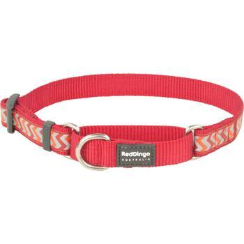 Martingale Dog Collar 25 mm – Refl. Ziggy Red