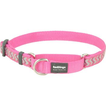 Martingale Collar 20 mm– Reflective Ziggy Hot Pink