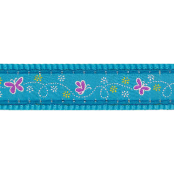 Dog Collar 15 mm x 24-37cm – Butterfly Turquoise