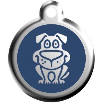 Pet ID Tag - Dog Navy