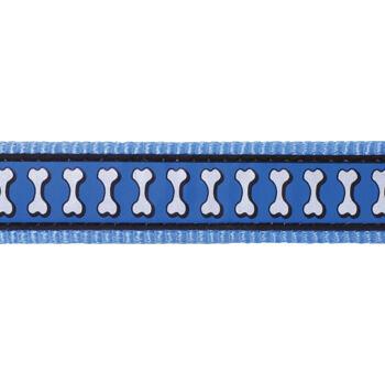 Multi Dog Lead 12 mm x 2 m – Refl. Bones Med.Blue