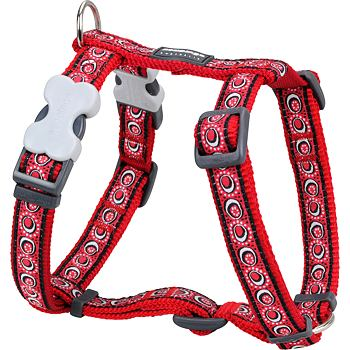 Dog Harness 25 mm x 56-80 cm - Cosmos Red