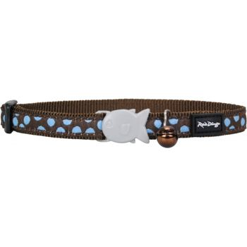 Cat Collar 12 mm x 20-32 cm – Blue Spots on Brown