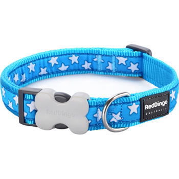 Dog Collar 20 mm x 30-47 cm – Stars White