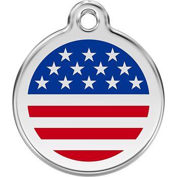 Pet ID Tag - US Flag