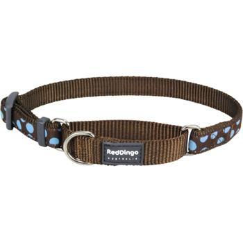 Martingale Collar 20 mm – Blue Spots on Brown