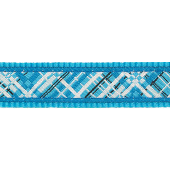 Dog Collar 25 mm x 41-63 cm– Flanno Turquoise