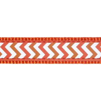 Dog Collar 12 mm x 20-32 cm– Refl. Ziggy Orange