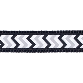Dog Collar 20 mm x 30-47 cm – Refl. Ziggy Black