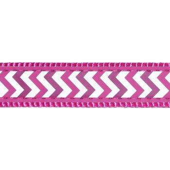 Dog Lead 20 mm x 1,8 m – Reflective Ziggy Hot Pink