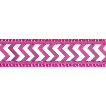 Dog Collar 15 mm x 24-37 cm – Refl. Ziggy Hot Pink