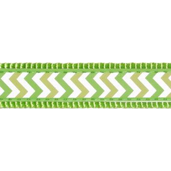 Dog Lead 15 mm x 1,8 m – Reflective Ziggy Lime