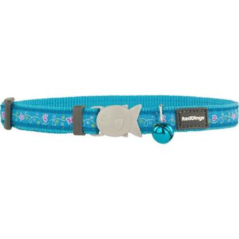 Cat Collar 12 mm x 20-32 cm– Butterfly Turquoise