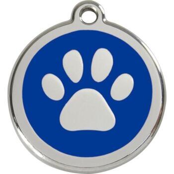 Pet ID Tag - Paw Print Navy