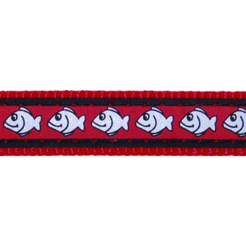 Cat Collar 12 mm x 20-32 cm – Reflective Fish Red