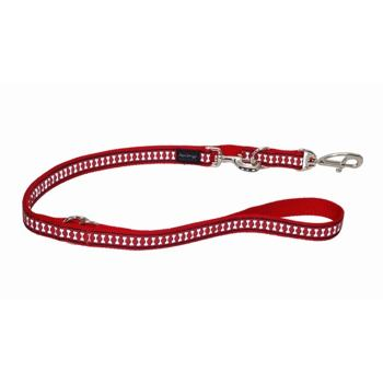 Multi Dog Lead 25 mm x 2 m – Refl. Bones Red
