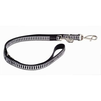 Multi Dog Lead 25 mm x 2 m – Refl. Bones Black