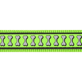 Martingale Collar 20 mm – Reflective Bones Lime