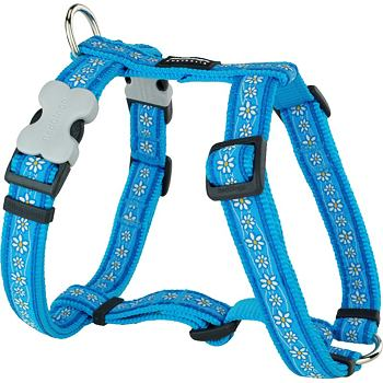 Dog Harness 12 mm x 30-44 cm - Daisy Chain Turq.