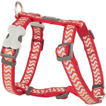 Dog Harness 25 mm x 71-113 cm – Refl. Ziggy Red