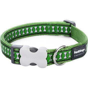 Dog Collar 12 mm x 20-32 cm – Reflect. Bones Green