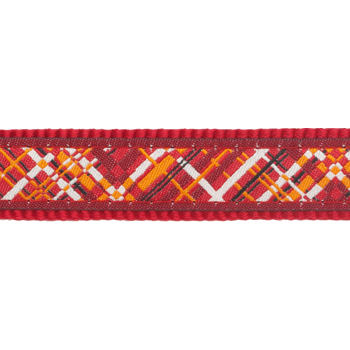 Martingale Dog Collar 25 mm- Flanno Red