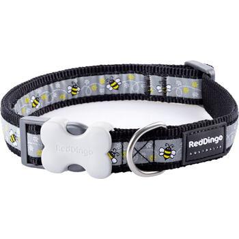 Dog Collar 20 mm x 30-47 cm– Bumble Bee Black